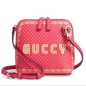 💘NWT Gucci Bag Guccy Crossbody Leather Pink